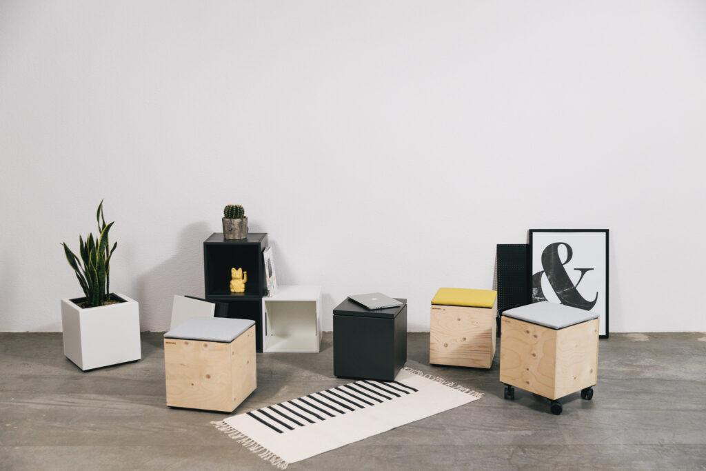 Tisch-und-Sitz-Cubes-kühnle'waiko